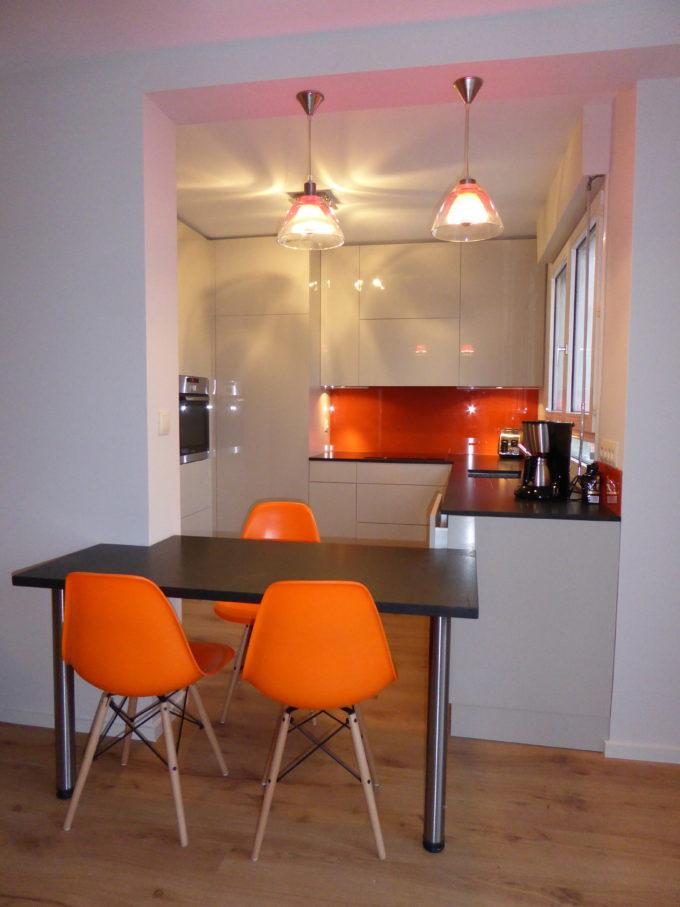 cuisine colorée appartement Lyon